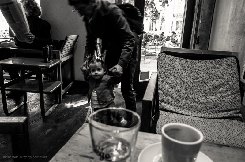 Child in neighborhood cafe.
