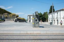 5 people walking in Montpellier, France.