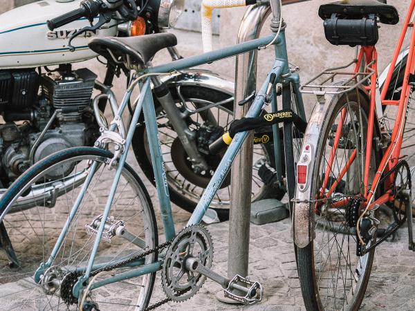 Francesco Moser blue bike.