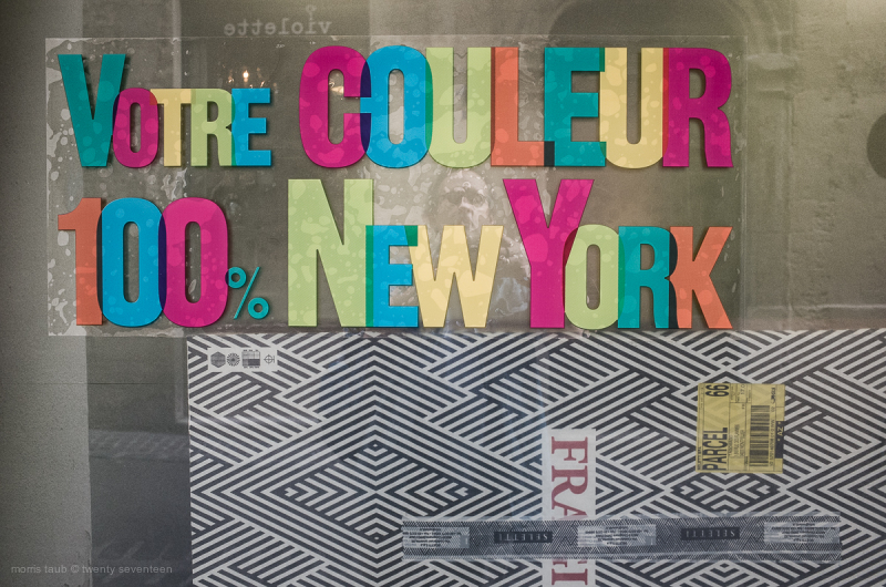 Store window 100 percent NY Color.