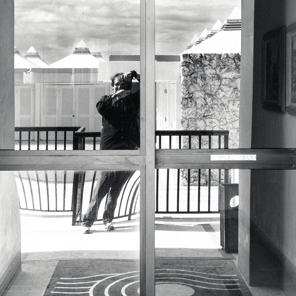 Self-portrait in Miami Beach, Florida.