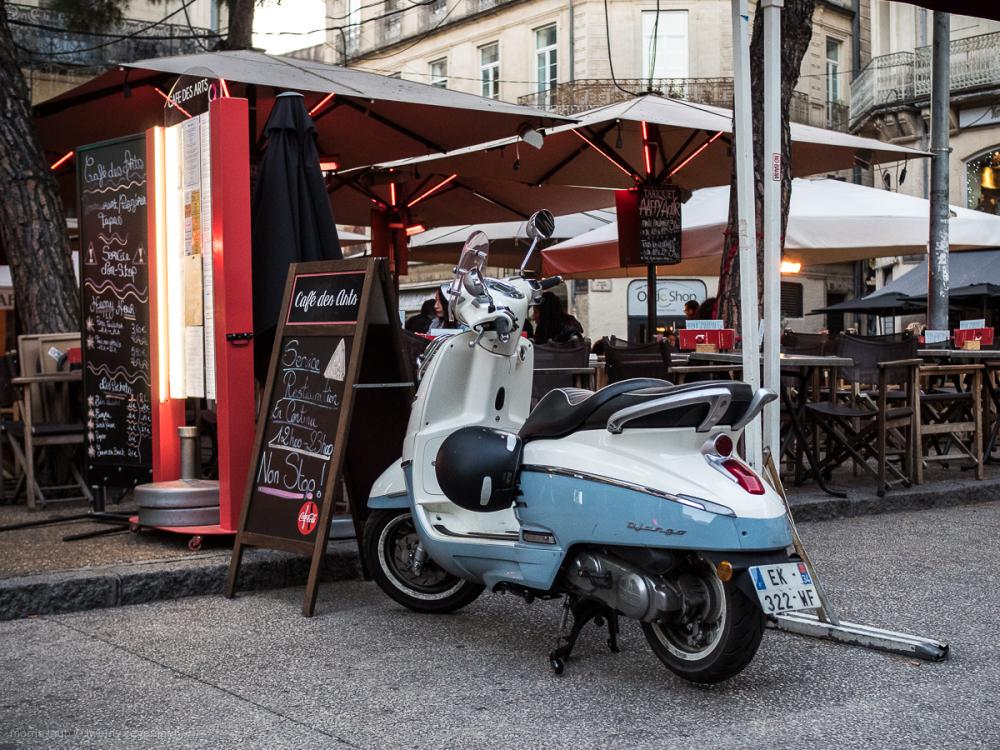 Outside Cafe des Arts, Montpellier France.