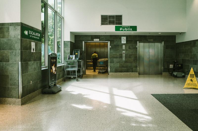 Elevators to Publix.