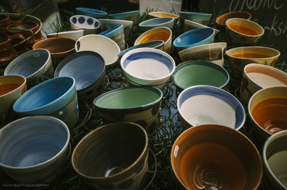 Assorted ceramic bowls.