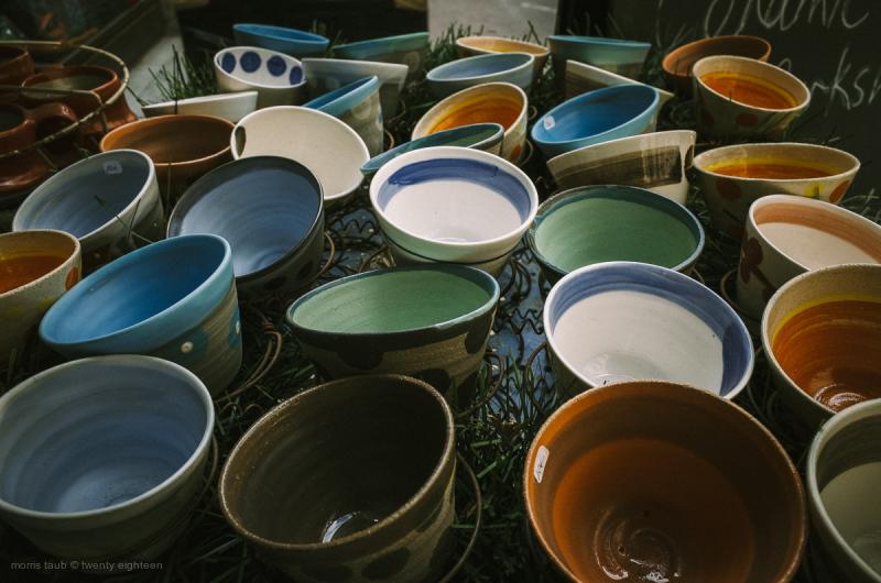 Assorted ceramic bowls.