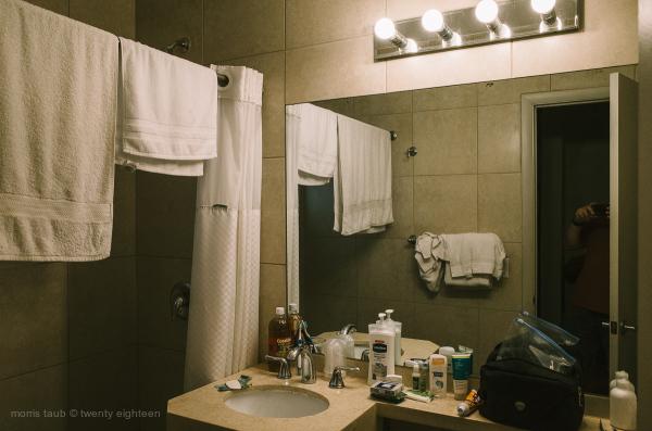 Bathroom at Colliins Hotel, Miami Beach.