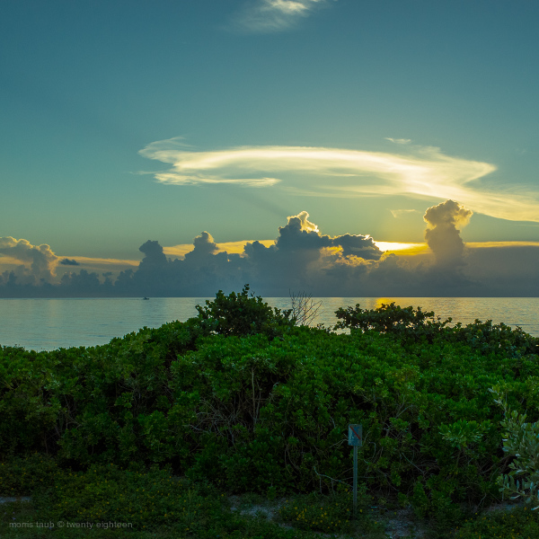 Sunrise on Miami Beach.