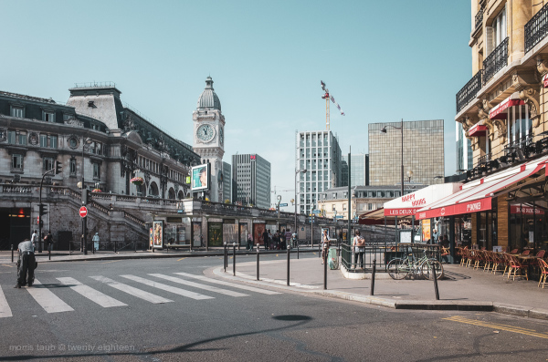 Gare de Lyon in Paris, France.
