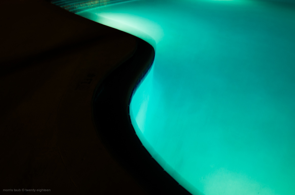 The summer pool at night.