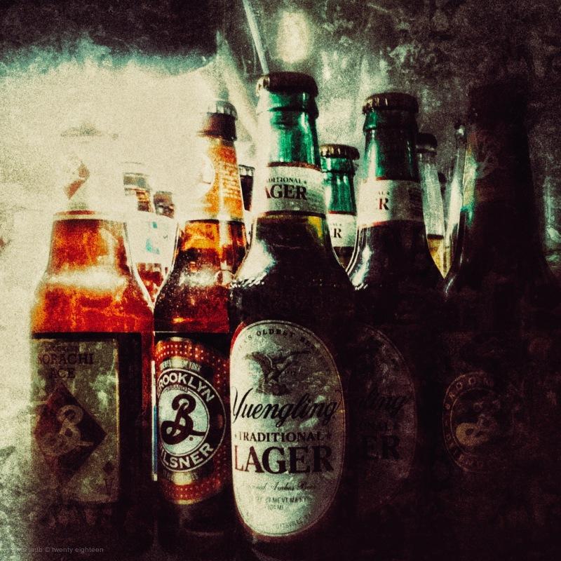 Beer in the fridge.