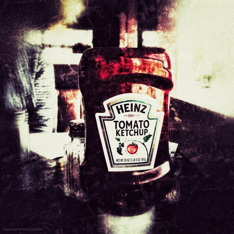 Ketchup and salt.