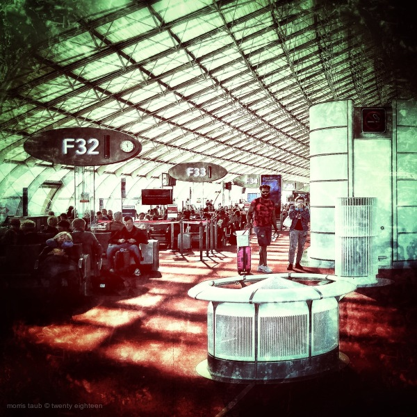 Interior Charles de Gaulle airport.