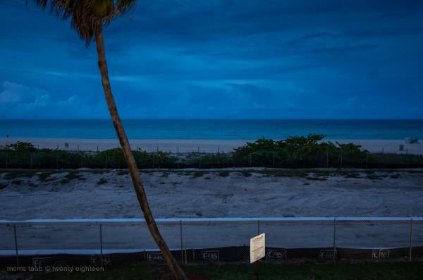 Miami Beach at night.