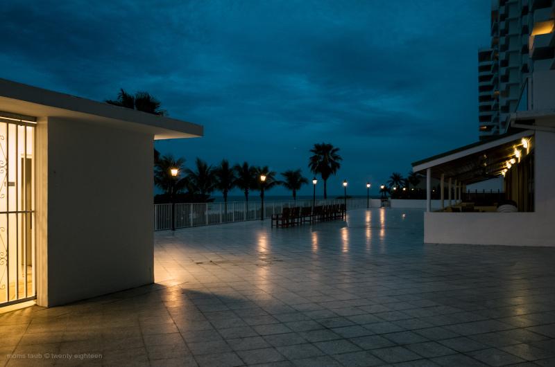 Terrace facing the ocean miami beach, florida.