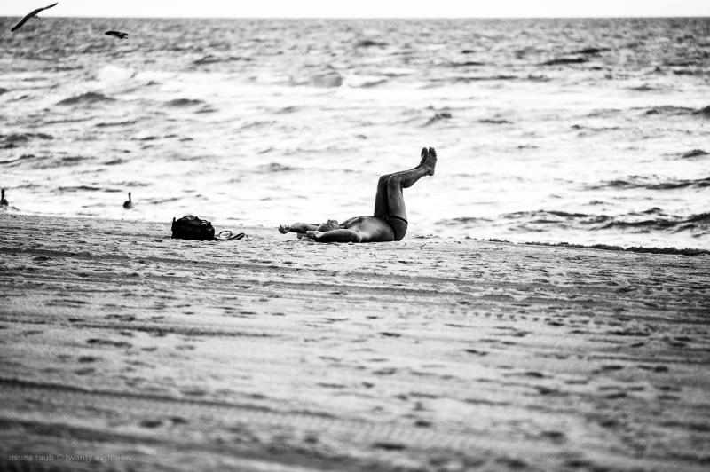 Yoga early morning miami beach florida.
