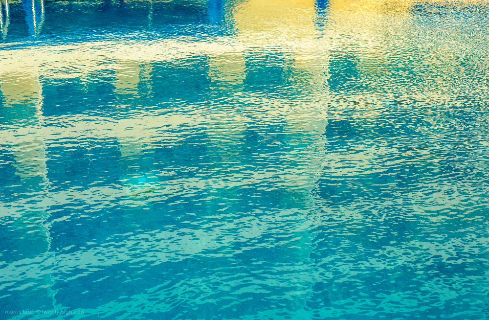 Pool behind dad