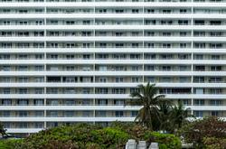 Back of building in Miami Beach, Flforida.