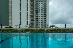Miami Beach Florida pool. Oceanside. Pavilion.
