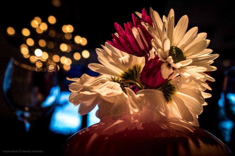 Table flowers Lola Miami Beach Florida.