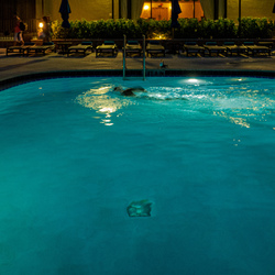Miami Beach Florida. Swimming at night.