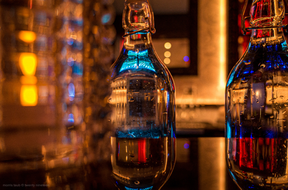 Bar inside Lola Restaurant, Miami Beach, Florida.
