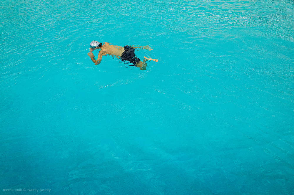 Miami Beach Florida. Swimming early morning.