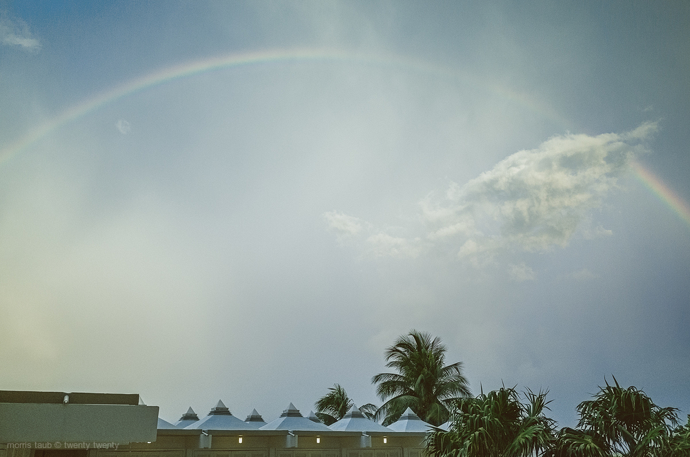 Rainbow over Miami Beach Florida.