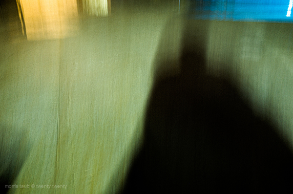 Abstract self portrait with pool in Miami.