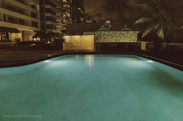 Dad in hospital. Nights at poolside, waiting.