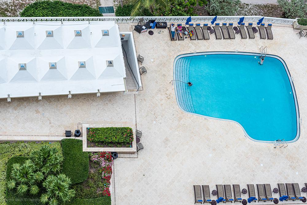 Around the pool in Miami Beach.
