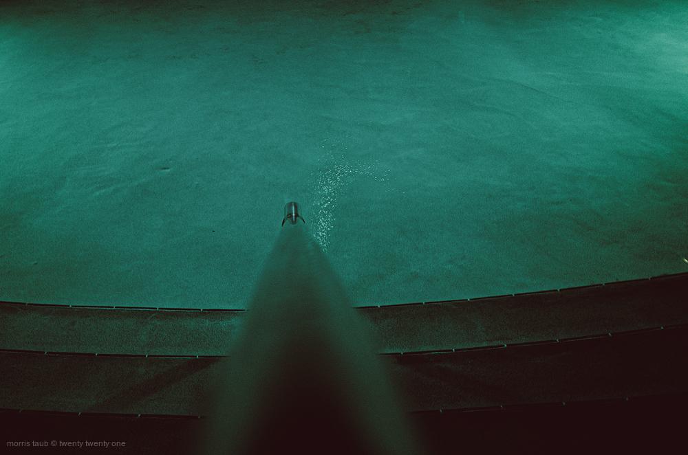 Miami Beach pool at night.