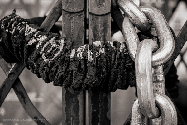 Locked gate.
