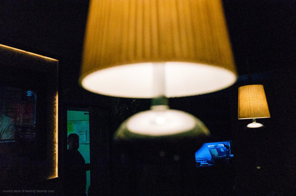 Bar lights at Lola.