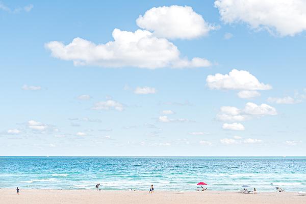 Miami Beach in winter.