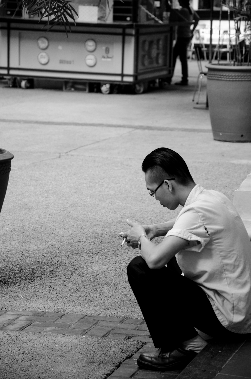 Chinese Guy Waiting