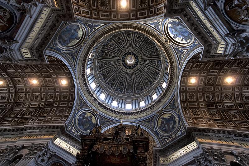 Plafond de St Pierre de Rome