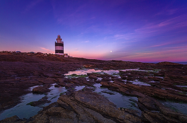 Sunset on the lighthouse