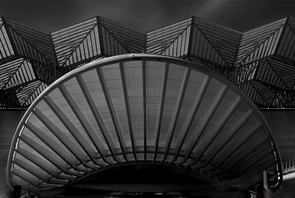 La gare de Lisbonne (B&W)