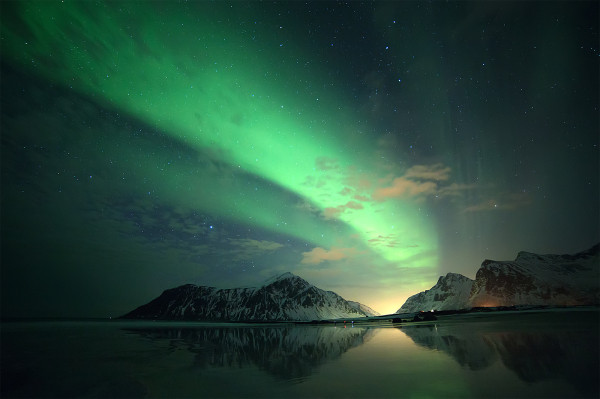 Northern lights-skagsangen beach