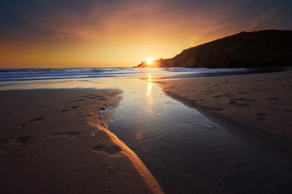 Coucher de soleil sur Belle île
