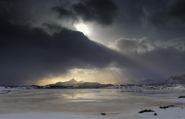 Ray of light on Lofoten