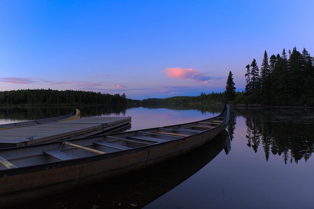 Coucher de soleil sur le lac du fou
