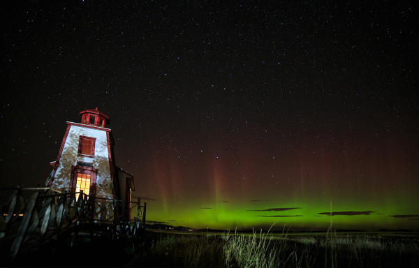 Aurores boréales au petit phare de St André