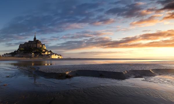 Lever de soleil au Mont St Michel