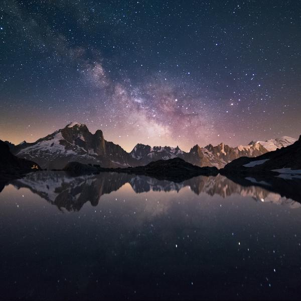 Voie lactée sur le Lac Blanc