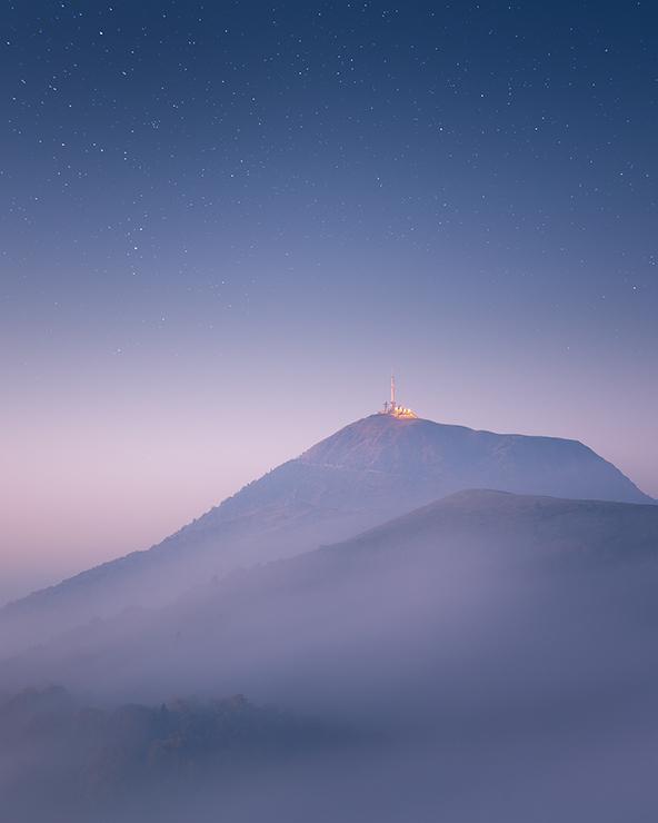 Puy de Dome à l'aube