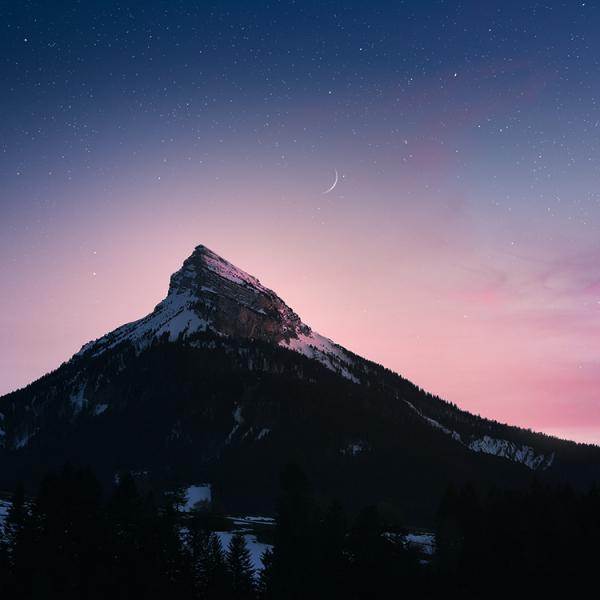 coucher de soleil sur Chamechaude