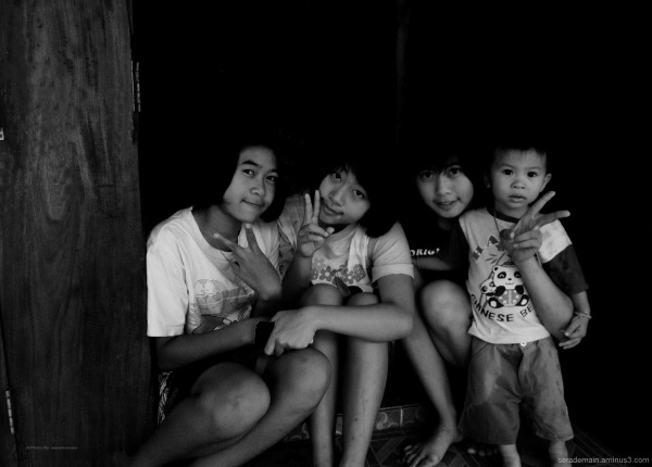 northern Thailand village children