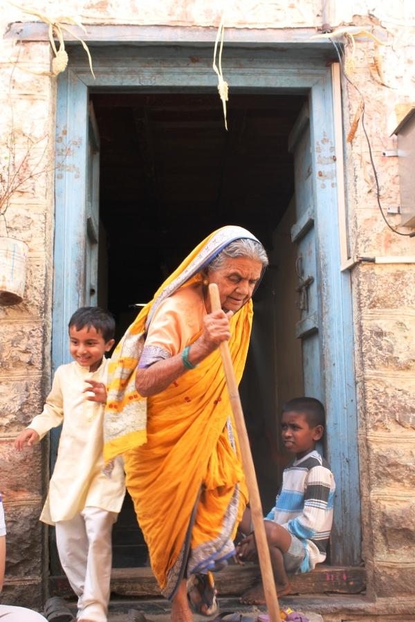 widow from a village