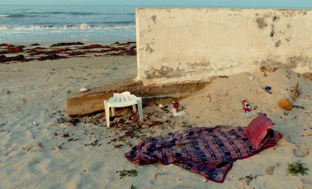 Homeless on the beach